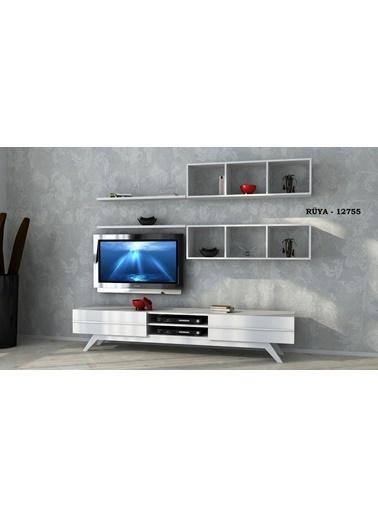 Sanal Mobilya Rüya 12557 Tv Ünitesi Beyaz Beyaz